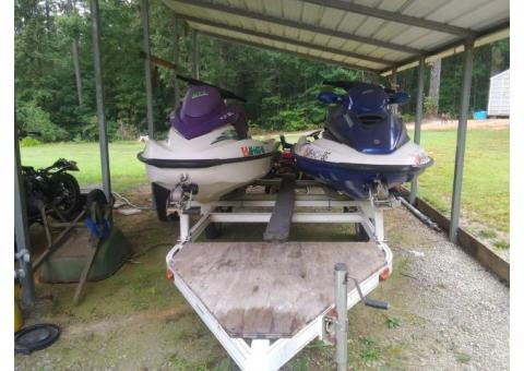 2002 seadoo gtx rfi. 2002 seadoo gti for sale both on duel trailer package deal