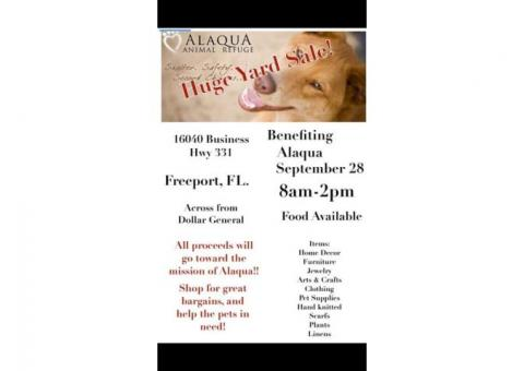 Yard Sale to benefit Alaqua Animal Refuge