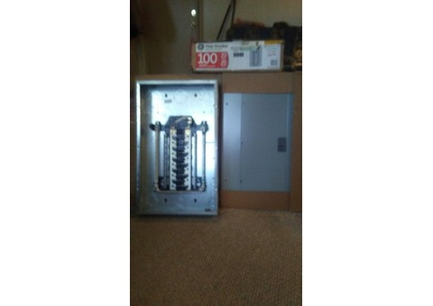 Brand new GE 100 amp breaker box $30