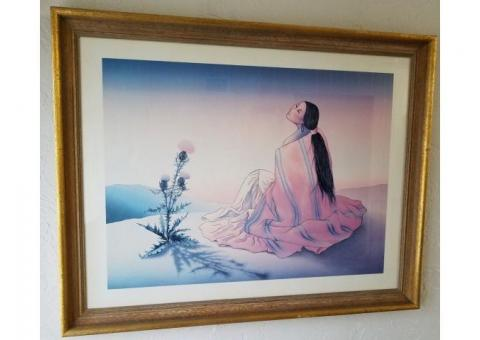 "RC Gorman Lithograph ""Navajo Dawn"" signed by the artist"