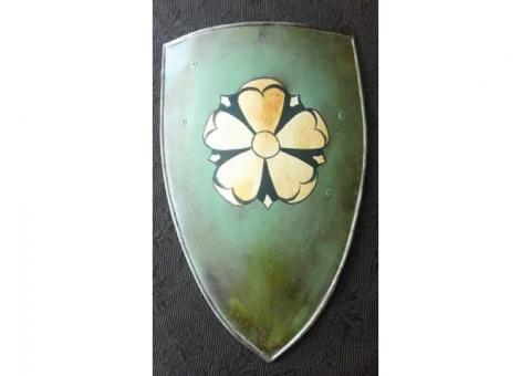 Green Medieval Coat of Arms Shield Handcrafted Steel