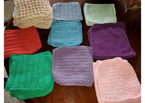 Crocheted dish clothes