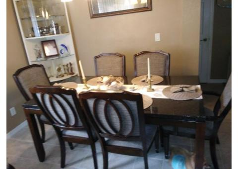 Marble top 6 seat dinette set