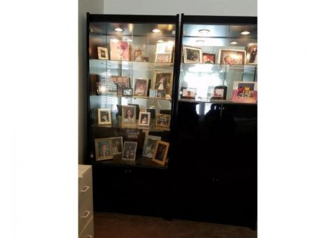 2 UNIT/STORAGE DISPLAY CABINETS