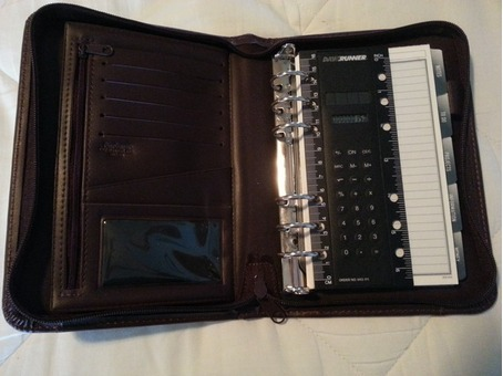 """Day Runner Professional Pad Holder w/Calculator – 3 ½"""" x 6 3/4"""" Sheet Size"""