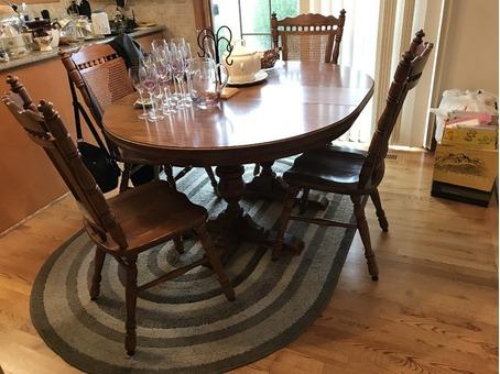 Oak dining set - Saturday, Nov. 25