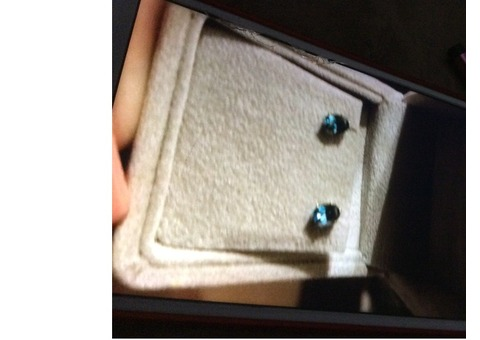 Aqua marine earrings